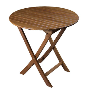 Whitecap Round Slat Table - Teak