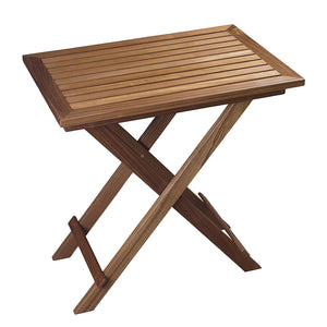 Whitecap Folding Slat Table - Teak