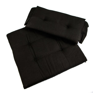 Whitecap Seat Cushion Set f/Directors Chair - Black