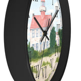 Fair Weather Off East Point Light Roman Numeral Clock