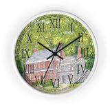 Manor House In Spring Roman Numeral Clock