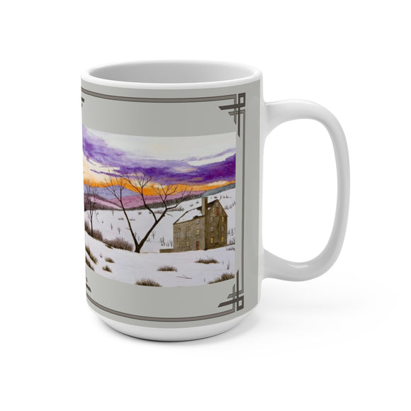 Shade Of Winter 15 oz Mug by Lee M. Buchanan