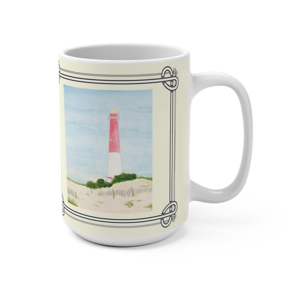 Barnegat Lighthouse 15 oz Mug by Lee M. Buchanan