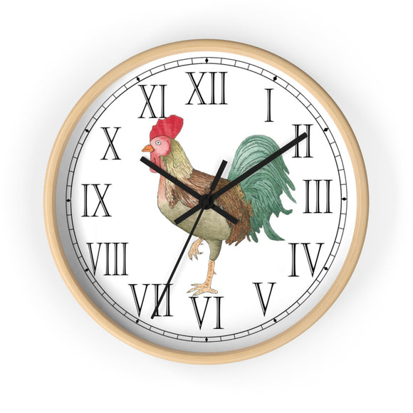 Michael Rooster Roman Numeral Clock