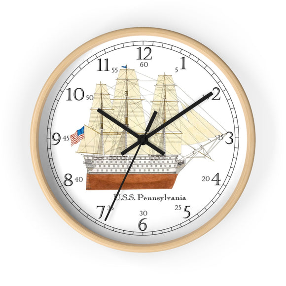 U.S.S. Pennsylvania English Numeral Clock