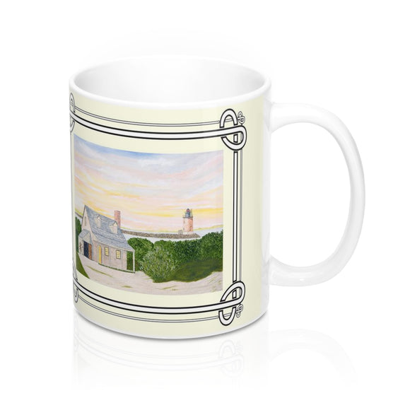 Harbor Light Mug by Lee M. Buchanan