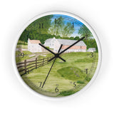 Trout Stream English Numeral Clock