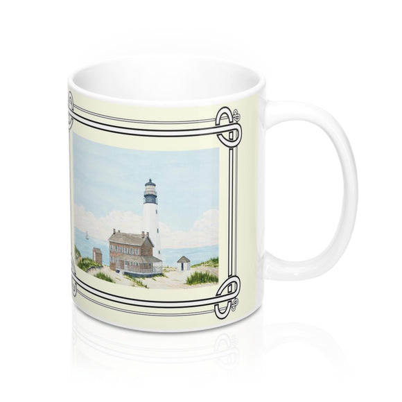 Spirit of Cape Henlopen Lighthouse Mug by Lee M. Buchanan