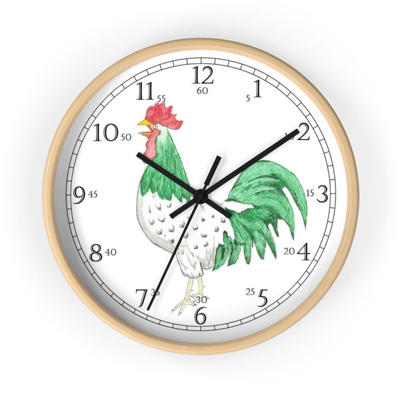 Henry Rooster English Numeral Clock