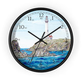 Rocks Off Pigeon Point English Numeral Clock