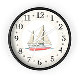 Ketch Rigged Motor Sailor Heirloom Designer Clock