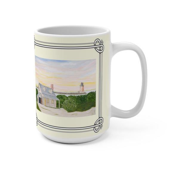 Harbor Light 15 oz Mug by Lee M. Buchanan