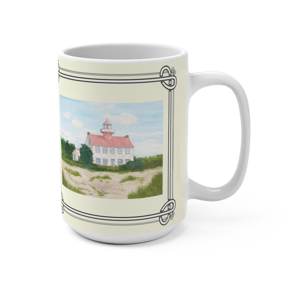 Fair Weather Off East Point Light 15 oz Mug