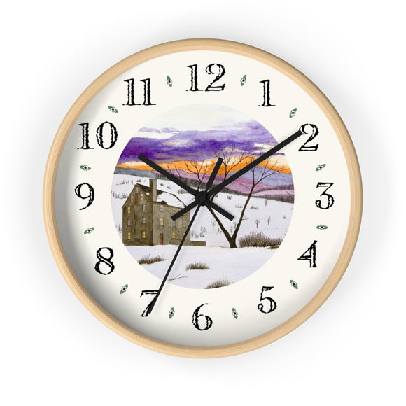 Shades Of Winter Heirloom Designer Clock