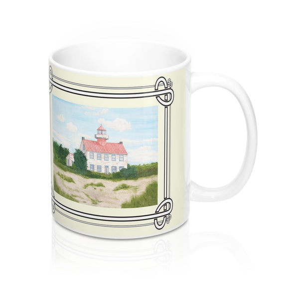Fair Weather Off East Point Light Mug by Lee M. Buchanan