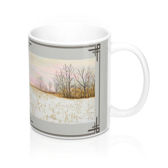 First Snow Mug by Lee M. Buchanan