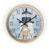 Evening Light At Brant Point Roman Numeral Clock