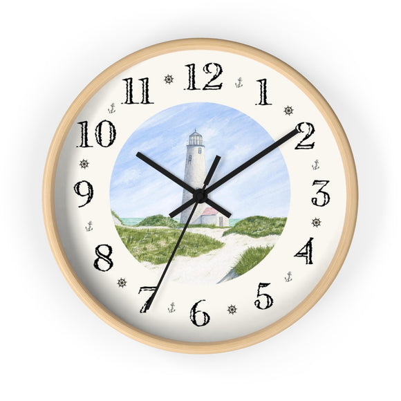 Dunes At Great Point Light Heirloom Designer Clock