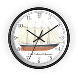Cod Fishing Schooner English Numeral Clock
