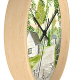 Country Lane and Fence English Numeral Clock