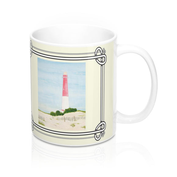 Barnegat Lighthouse Mug by Lee M. Buchanan