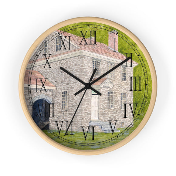 Manor House In Summer Roman Numeral Clock