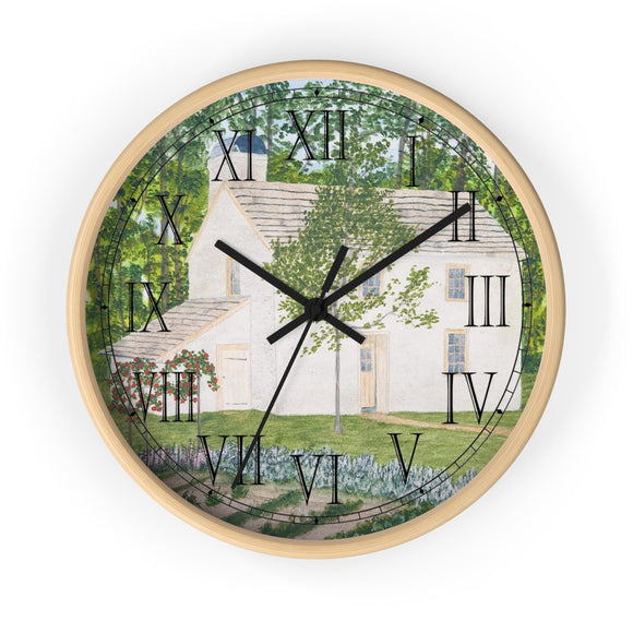 Country Garden Roman Numeral Clock