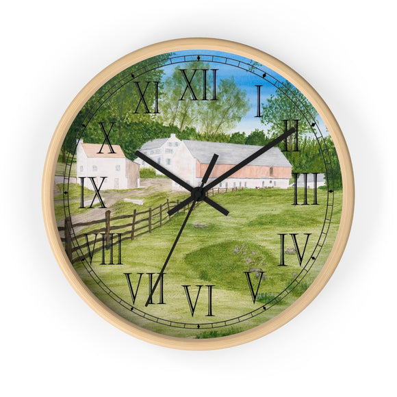 Trout Stream Roman Numeral Clock