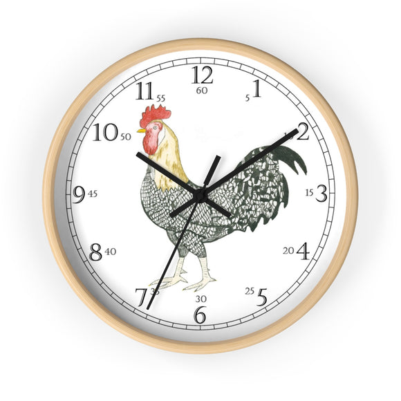 Charlie Rooster English Numeral Clock