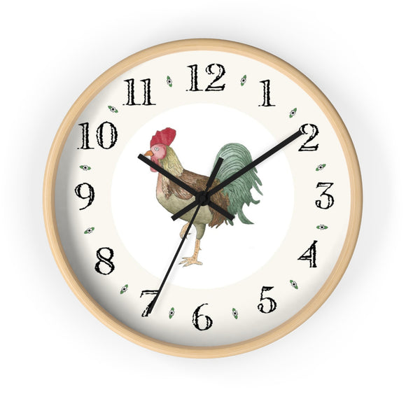 Michael Rooster Heirloom Designer Clock