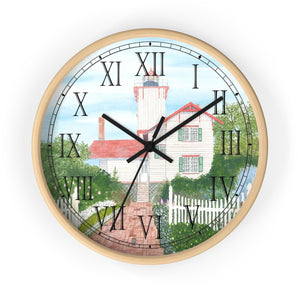 Gardens At Hereford Inlet Roman Numeral Clock