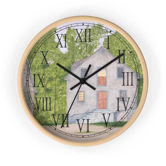 Long Day At The Mill Roman Numeral Clock