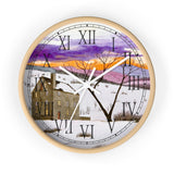 Shades Of Winter Roman Numeral Clock