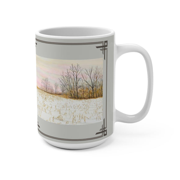 First Snow 15 oz Mug by Lee M.Buchanan