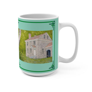 Manor House In Summer 15 oz Mug by Lee M. Buchanan