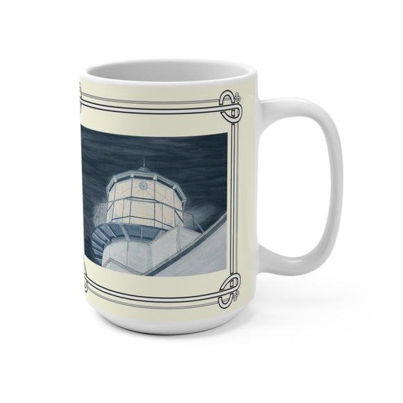 Night Watch Over The Bay 15 oz Mug by Lee M. Buchanan