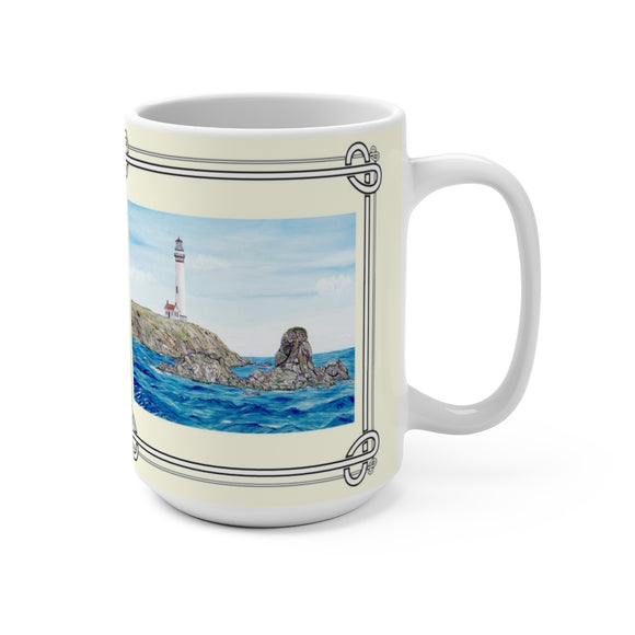 Rocks Off Pigeon Point 11 oz Mug by Lee M. Buchanan