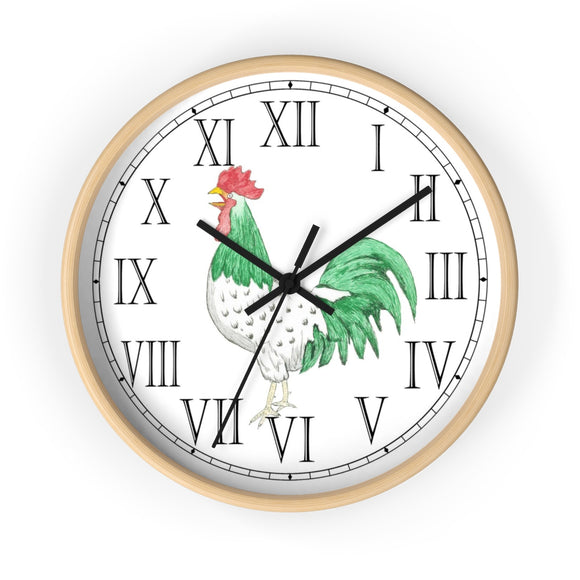 Henry Rooster Roman Numeral Clock