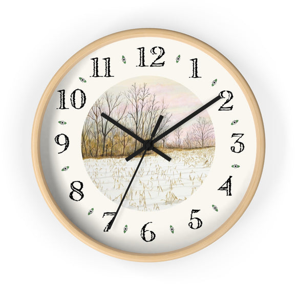 First Snow Heirloom Designer Clock