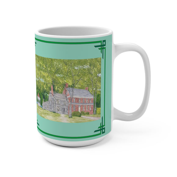 Manor House In Spring 15 oz Mug by Lee M. Buchanan