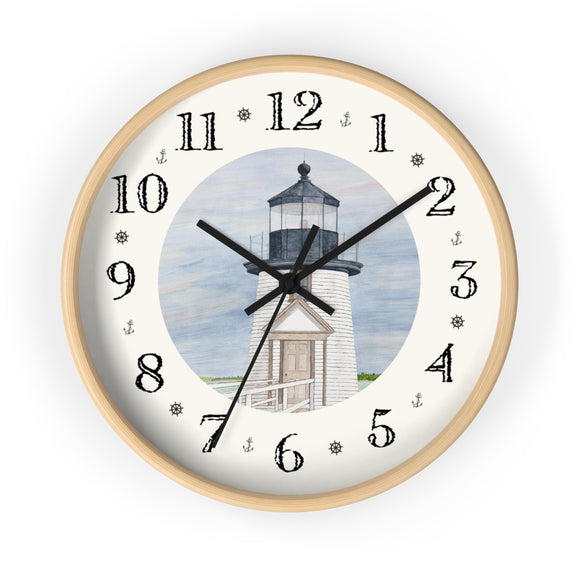 Evening Light At Brant Point Heirloom Designer Clock
