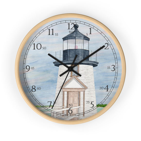 Evening Light At Brant Point English Numeral Clock