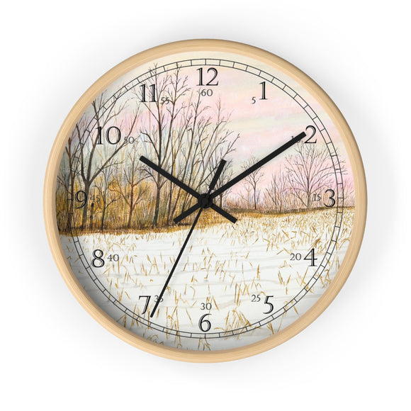 First Snow English Numeral Clock