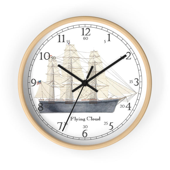 Clipper Flying Cloud English Numeral Clock