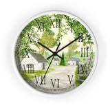 Country Lane and Fence Roman Numeral Clock
