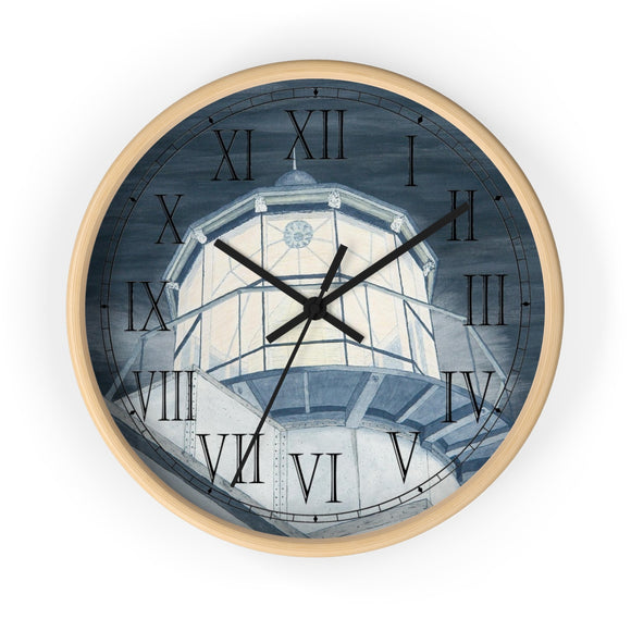 Night Watch Over The Bay Roman Numeral Clock