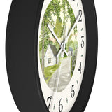 Country Lane and Fence Heirloom Designer Clock