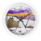 Shades of Winter English Numeral Clock