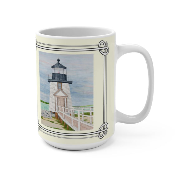 Evening Light At Brant Point 15 oz Mug by Lee M. Buchanan