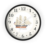 U.S.S. Constitution Heirloom Designer Clock
